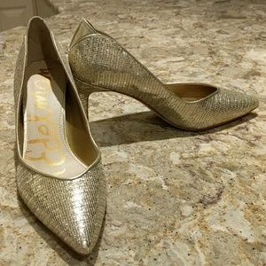 NWT Gold Sparkle Sam Edelman Pumps